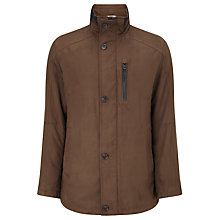 Buy Bugatti 82cm Microma Velours Jacket, Brown Online at johnlewis.com
