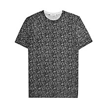 Buy Reiss Shore Crosshatch Pattern T-Shirt, Black/White Online at johnlewis.com