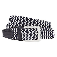 Buy Reiss Teller Contrast Woven Belt Online at johnlewis.com