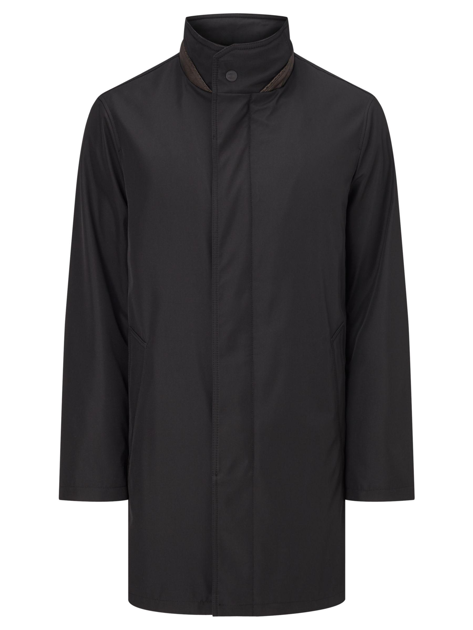 Bugatti Bugatti 94cm Funnel Neck Water-Repellent Raincoat, Black