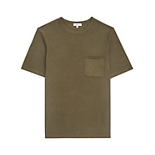 Buy Reiss Courtney Crew Neck Cotton T-Shirt, Sage Green Online at johnlewis.com