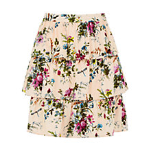Buy Oasis Chintz Rosanna Skirt, Multi/Natural Online at johnlewis.com