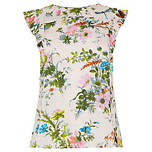 Buy Oasis Rosanna Frill Detail Floral Top, Multi Online at johnlewis.com