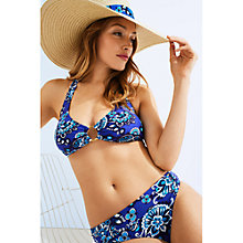 Buy Phase Eight Paisley Bikini Top, Blue/Multi Online at johnlewis.com