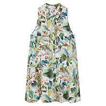 Buy Mango Printed Shirt Dress, Natural White Online at johnlewis.com