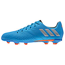 Buy Adidas Children's Messi 16.3 FG Football Boots, Blue/Silver Online at johnlewis.com