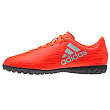 Buy Adidas Children's Solar X 16.4 Astroturf Shoes, Red/Silver Online at johnlewis.com