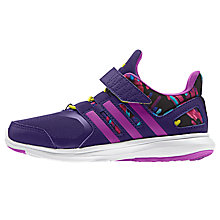 Buy Adidas Children's Hyperfast 2.0 Trainers, Purple/Multi Online at johnlewis.com