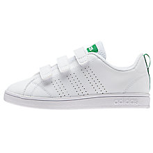 Buy Adidas Children's VS Advantage Triple Riptape Trainers, White Online at johnlewis.com