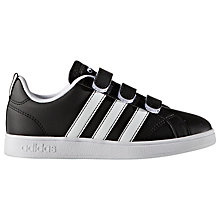 Buy Adidas Children's Rip Tape Advantage VS Sports Shoes, Black/White Online at johnlewis.com