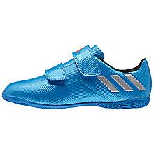 Buy Adidas Children's Messi 16.4 IN Football Boots, Blue/Silver Online at johnlewis.com