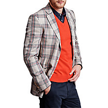 Buy Thomas Pink Kendall Check Blazer, Beige/Red Online at johnlewis.com
