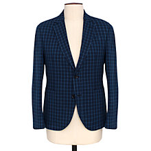 Buy Thomas Pink Milburn Check Cotton Blazer, Navy/Blue Online at johnlewis.com