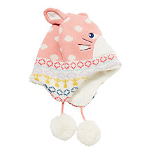 Buy John Lewis Children's Novelty Rabbit Hat, Pink Online at johnlewis.com