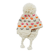 Buy John Lewis Children's Colour Spots Chunky Knitted Hat, Neutral Online at johnlewis.com
