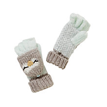 Buy John Lewis Children's Novelty Grey Owl Mittens, Grey Online at johnlewis.com