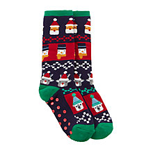 Buy John Lewis Children's Christmas Fair Isle Sock, Multi Online at johnlewis.com
