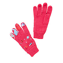 Buy John Lewis Children's Novelty Woodland Animal Gloves, Pink Online at johnlewis.com