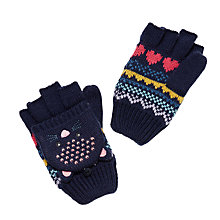Buy John Lewis Children's Novelty Cat Gloves, Navy Online at johnlewis.com