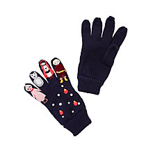 Buy John Lewis Children's Novelty Red Ridinghood Gloves, Navy Online at johnlewis.com