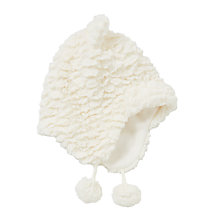 Buy John Lewis Children's Faux Fur Trapper Hat, White Online at johnlewis.com