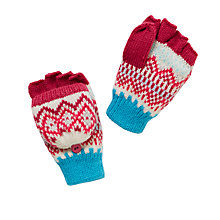 Buy John Lewis Children's Fair Isle Mittens, Pink/Multi Online at johnlewis.com