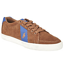 Buy Polo Ralph Lauren Harvey Trainers, New Snuff Online at johnlewis.com