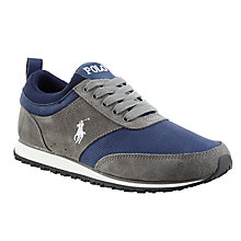 Buy Polo Ralph Lauren Ponteland Trainers, Grey/Navy Online at johnlewis.com