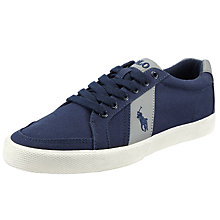 Buy Polo Ralph Lauren Hugh Lace Up Canvas Trainers Online at johnlewis.com