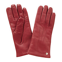 Buy Coach Leather Gloves, Classic Red Online at johnlewis.com