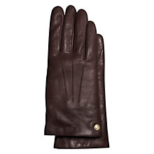Buy Coach Leather Gloves, Teak Online at johnlewis.com