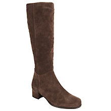 Buy John Lewis Savannah Block Heeled Long Boots, Taupe Online at johnlewis.com