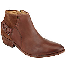 Buy H by Hudson Triad Block Heeled Ankle Boots, Brown Online at johnlewis.com