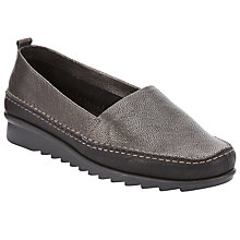 Buy John Lewis Designed for Comfort Gilia Loafers, Pewter Online at johnlewis.com