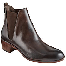 Buy H by Hudson Compound Block Heeled Ankle Boots, Brown Online at johnlewis.com