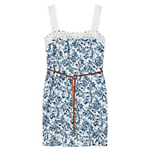 Buy Violeta by Mango Flower Print Dress, Pastel Blue Online at johnlewis.com