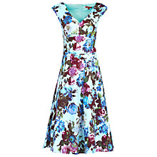 Buy Jolie Moi Floral Sweetheart Neck Dress, Aqua Online at johnlewis.com