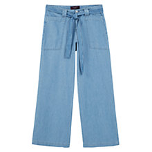 Buy Violeta by Mango Flared Carla Jeans, Open Blue Online at johnlewis.com