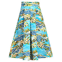 Buy Jolie Moi Retro Printed A-Line Skirt, Blue Online at johnlewis.com