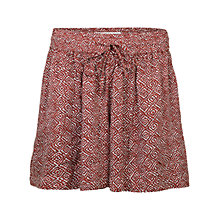 Buy Fat Face Tribal Geo Flippy Shorts, Burnt Red Online at johnlewis.com