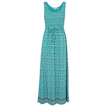 Buy Fat Face Freya Coastal Floral Maxi Dress, Eucalyptus Online at johnlewis.com