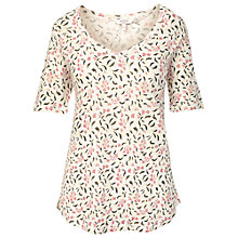 Buy Fat Face Petal Vine T-Shirt, Ivory Online at johnlewis.com