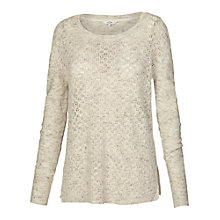 Buy Fat Face Harlym Stitch Jumper, Misty Surf Online at johnlewis.com
