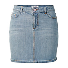 Buy Fat Face Denim Wash Skirt, Light Denim Online at johnlewis.com