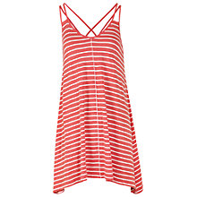 Buy Fat Face Stripe Swing Top, Coral Online at johnlewis.com