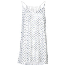 Buy Fat Face Macrame Batik Ditsy Top, White Online at johnlewis.com