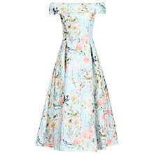 Buy Jolie Moi Floral 3D Bardot Dress, Aqua Online at johnlewis.com
