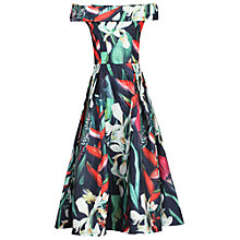 Buy Jolie Moi 3D Pattern Bardot Dress, Black Online at johnlewis.com