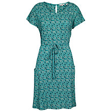 Buy Fat Face Ava Coastal Floral Dress, Eucalyptus Online at johnlewis.com