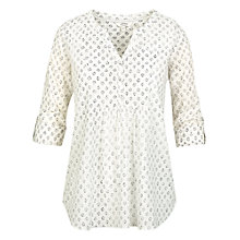 Buy Fat Face Batik Popover Top, Ivory Online at johnlewis.com